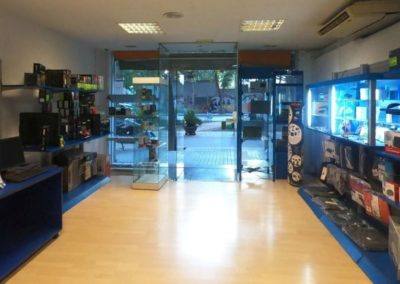Detalle interior tienda